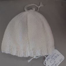 Christening Hat 0-3 m White Pattern