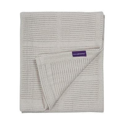Clevamama Clevamama Cellular Blanket Cot/Cotbed Grey