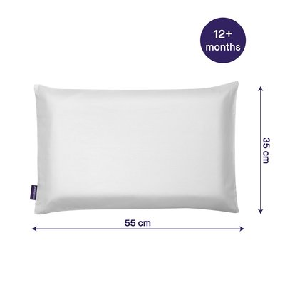 Clevamama Clevafoam Toddler Pillowcase White