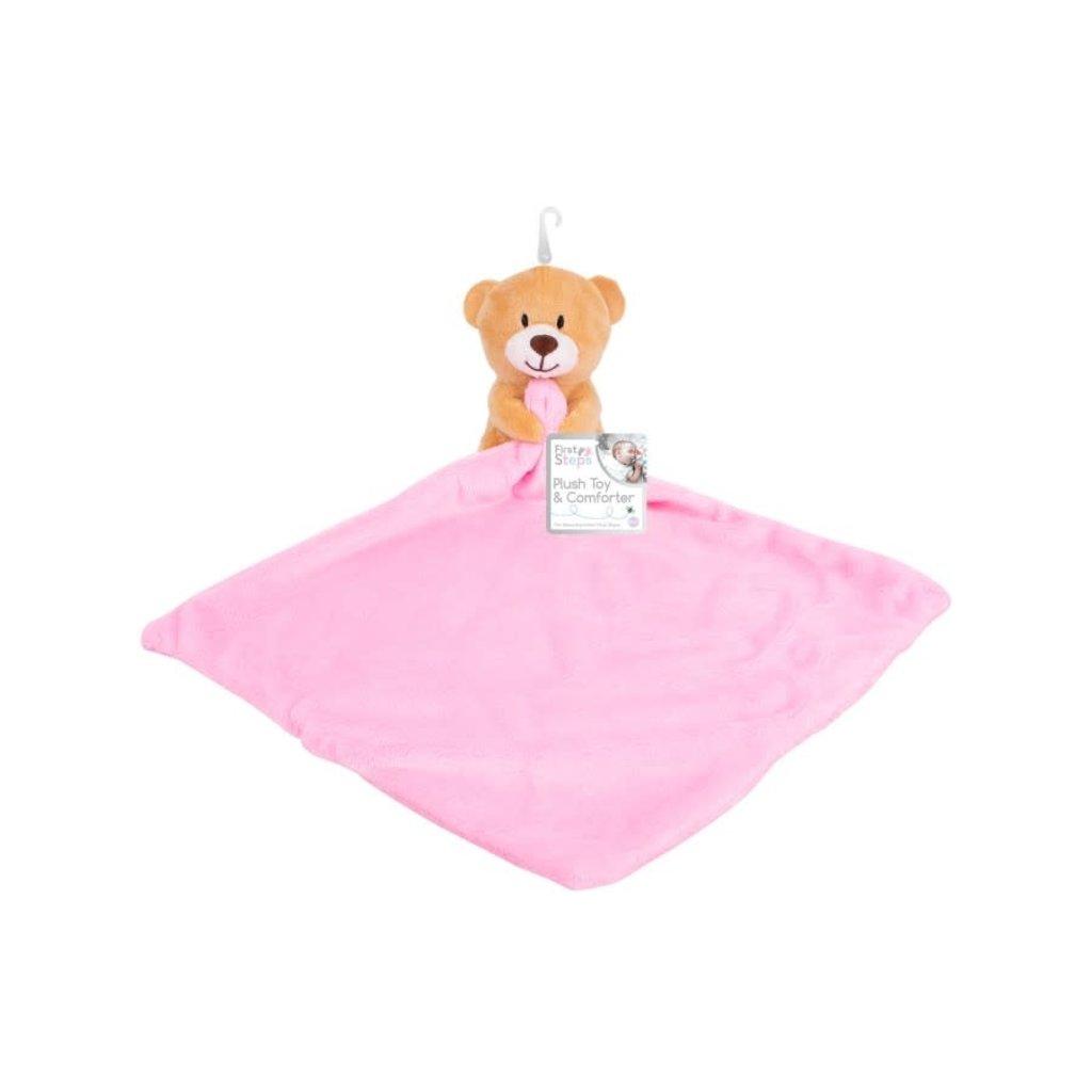 Plush Bear Comforter- Pink