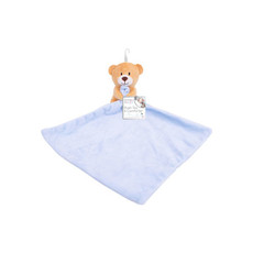 Plush Bear Comforter - Blue