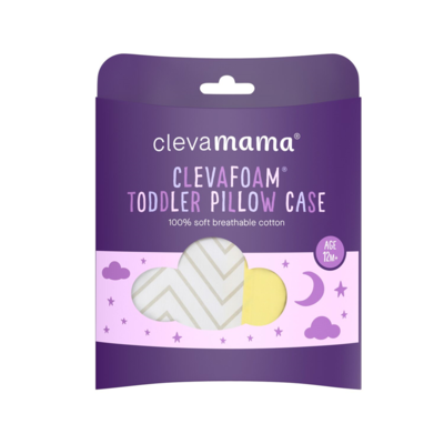 ClevaFoam Toddler Pillow Case White