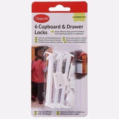 Clippasafe Clippasafe  Cupboard & Drawer Locks 6pk