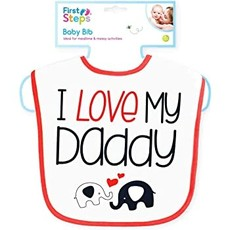 First Steps Baby Bib Mummy/Daddy Velcro Bib