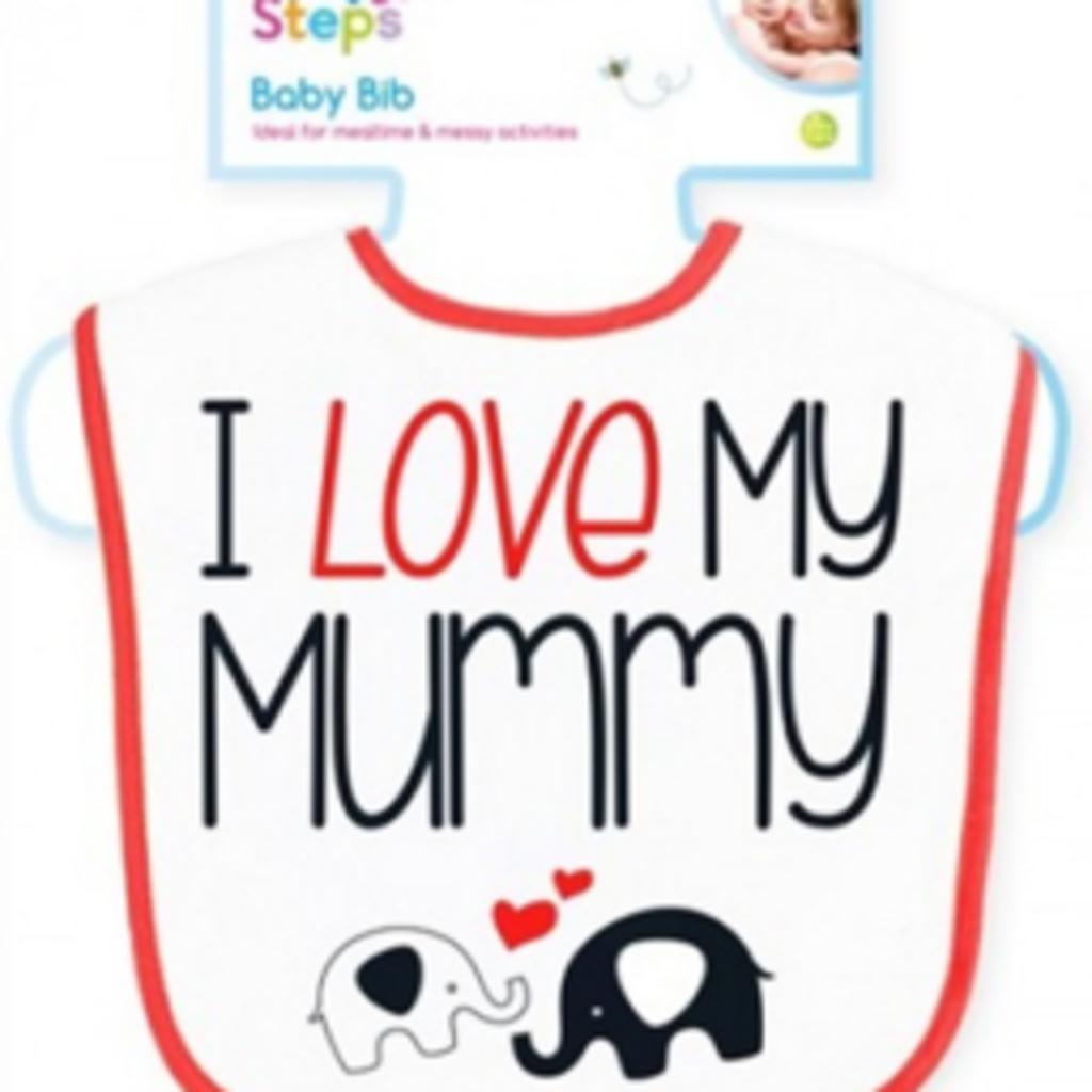 First Steps Baby Velcro Bib- I love my mummy