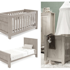 babystyle BabyStyle Bordeaux Ash Cot Bed
