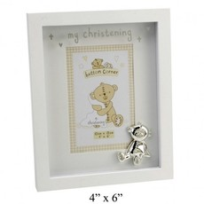 "Button Corner Button Corner Photo Frame & Icon ""My Christening"" 4"" x 6"""