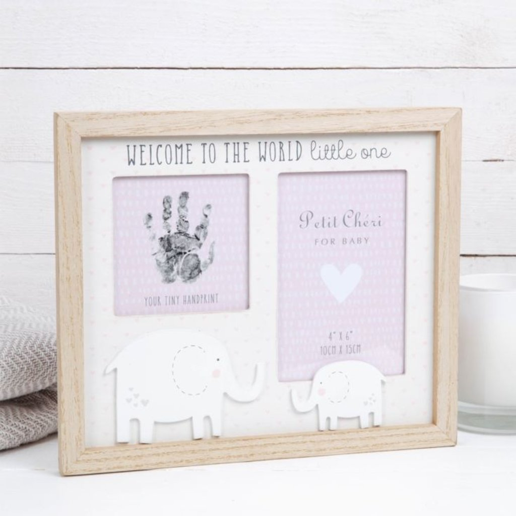 "Petit Cheri Petit Cheri Hand Print & Photo Frame 4"" x 6"" Pink"