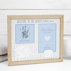 """Petit Cheri Petit Cheri Hand Print & Photo Frame 4"""" x 6"""" Blue"""