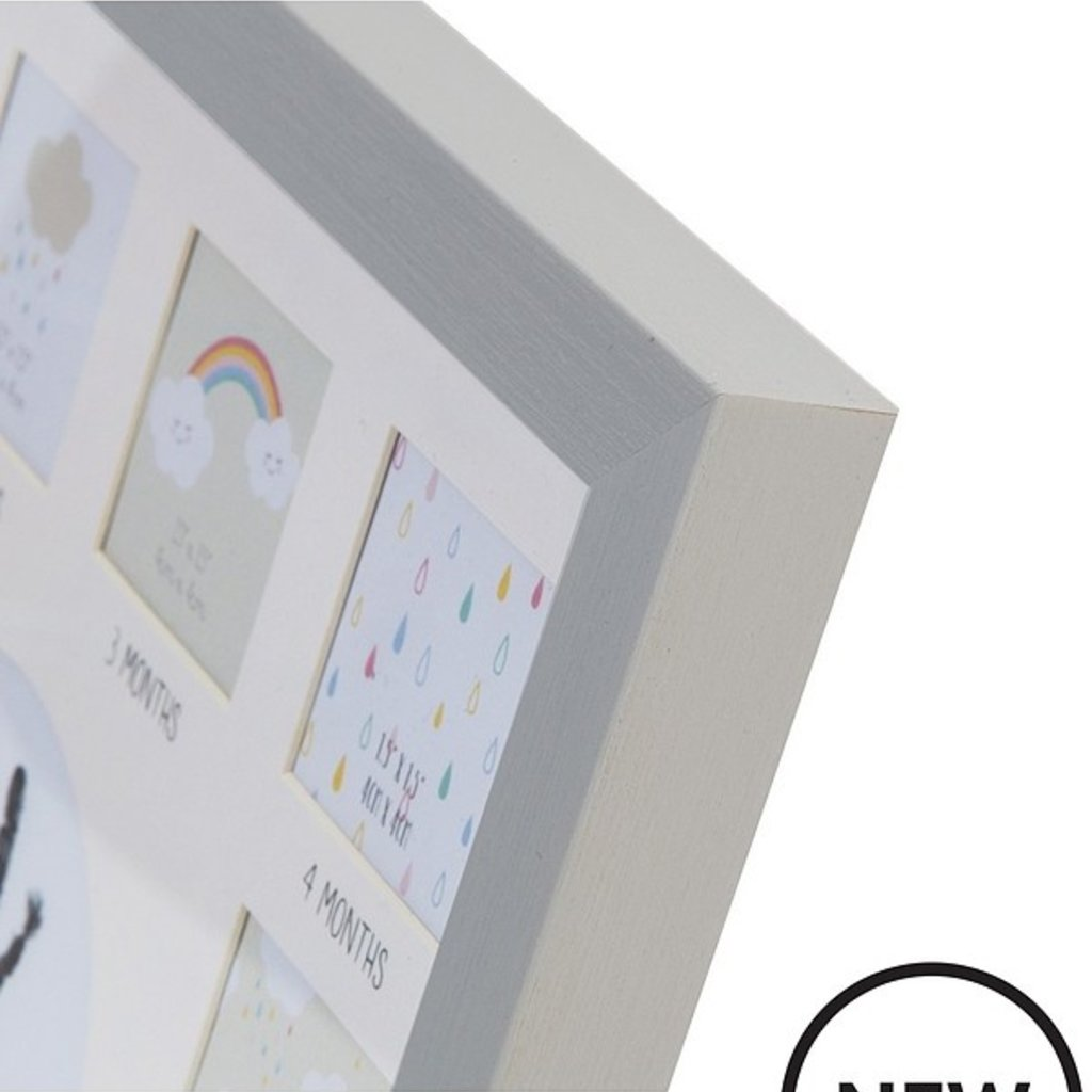 Celebrations Celebrations Multi Aperture Frame Grey w/ Ink Pad