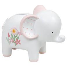 Petit Cheri Petit Cheri Collection Resin Money Box Elephant- Baby GIrl