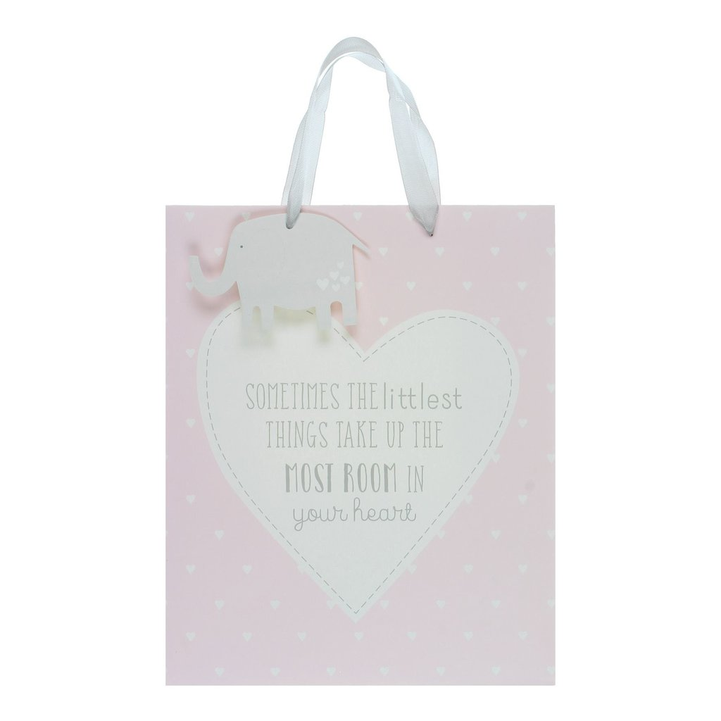 Petit Cheri Petit Cheri 'Little Things' Large Pink Gift Bag