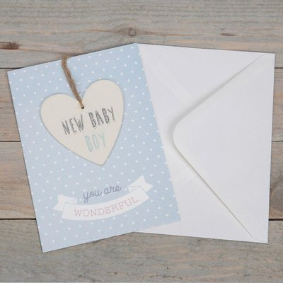 Celebrations Greeting Card & Plaque- New Baby Boy