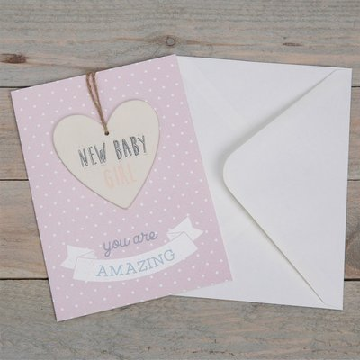 Celebrations Greeting Card & Plaque- New Baby Girl