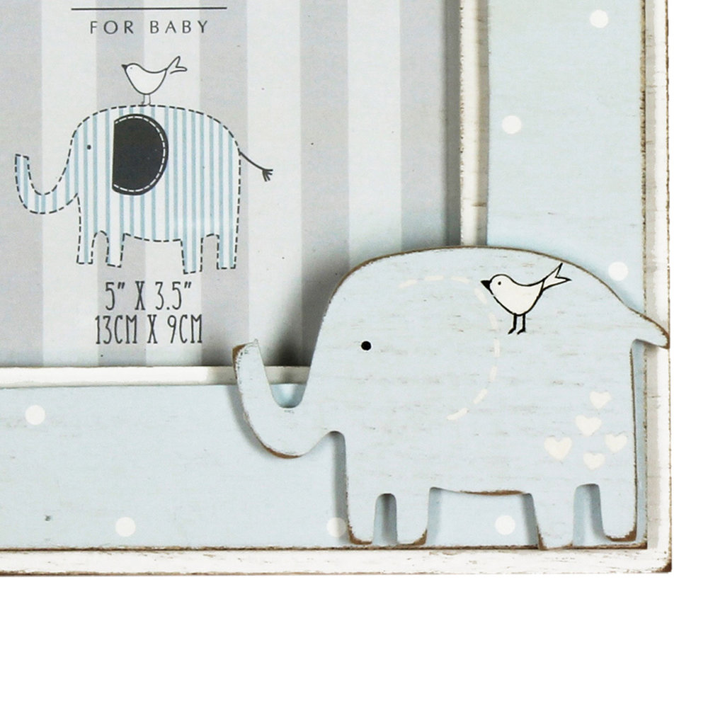 "Petit Cheri 'Petit Cheri' Photo Frame 5"" x 3.5"" Elephant- Baby Boy"