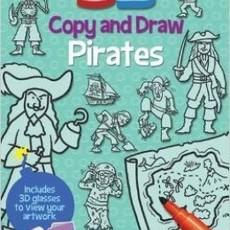 3D Copy & Draw Pirates [Paperback]