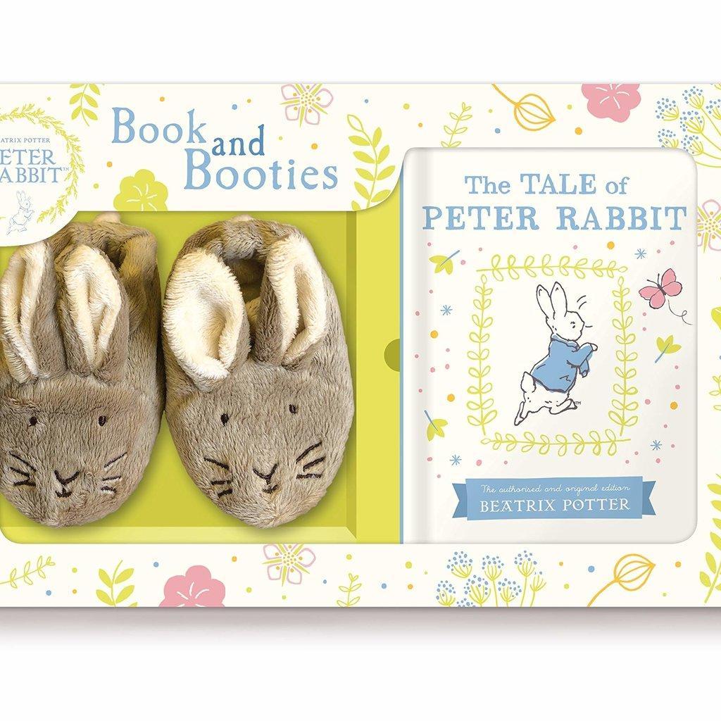 Tale Peter Rabbit Bk & Booties Gift Set
