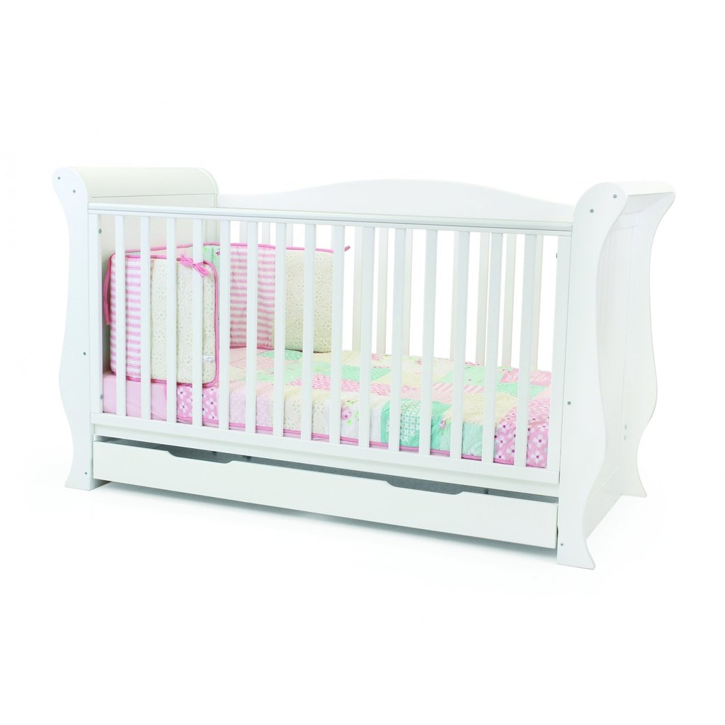 babystyle BabyStyle Hollie Fresh White Sleigh  Cot Bed