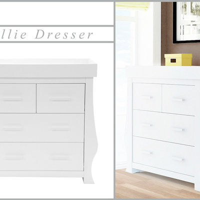 babystyle BabyStyle Hollie Fresh White Dresser And Changer