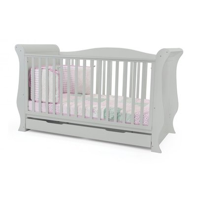 babystyle BabyStyle Hollie Grey Sleigh Cot Bed