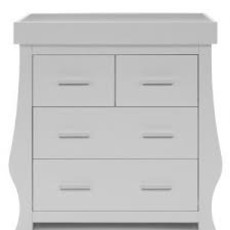 babystyle BabyStyle Hollie Grey Dresser And Baby Changer
