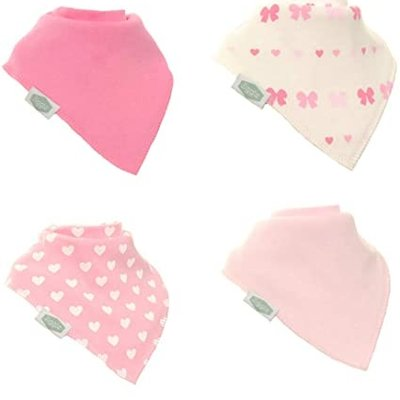Ziggle Bandana Dribble Bibs Hearts and Bows