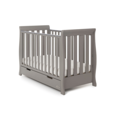Obaby Obaby - Stamford Mini Sleigh Cot Bed - Taupe Grey