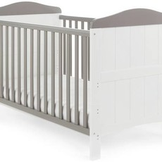 Obaby Obaby Whitby Cot Bed - White with Taupe Grey