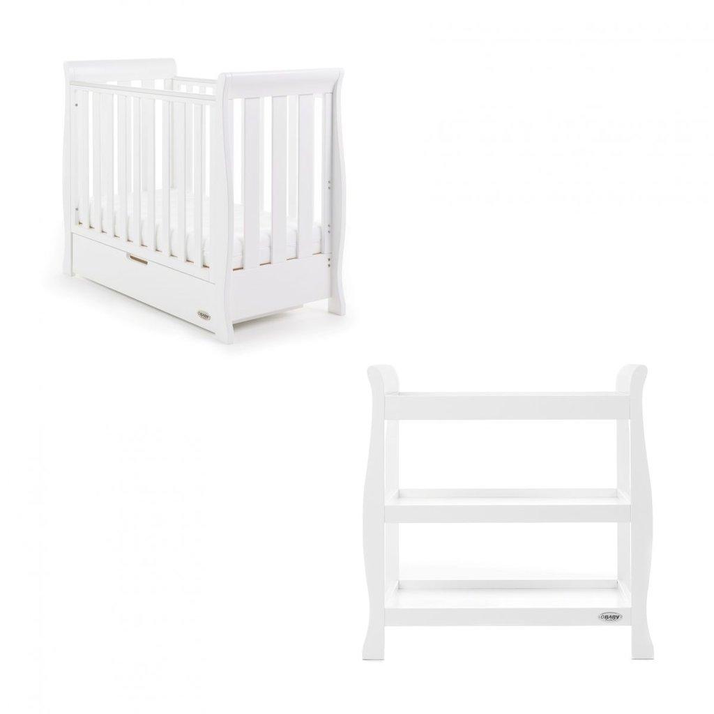 Obaby Obaby Stamford Space Saver 2 Piece Room Set - White
