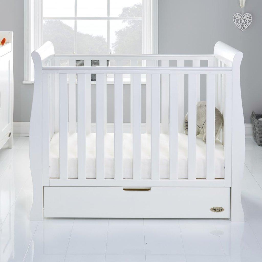 Obaby Obaby Stamford Space Saver Sleigh 2 Piece Room Set - White