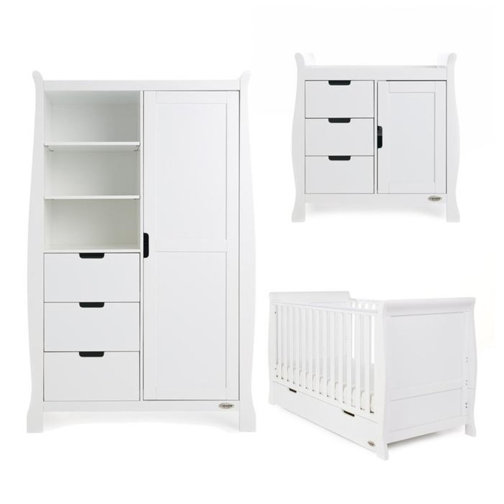Obaby Obaby Stamford Classic 3 Piece Set - White