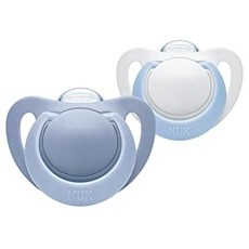 Nuk Nuk Genius Silicone Soother Blue 6-18m 2pk