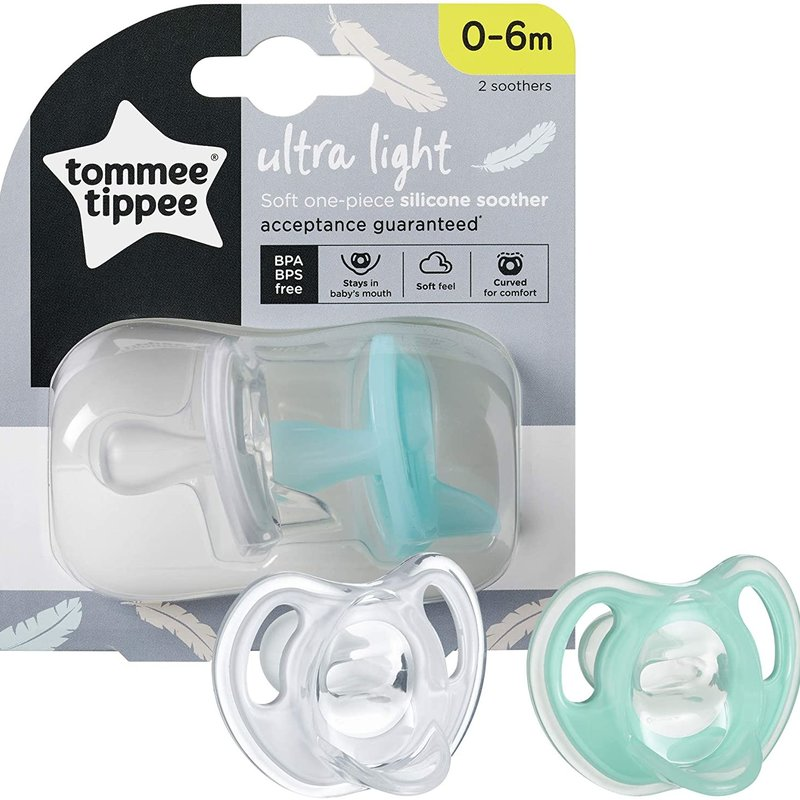 Tommee Tippee Tommee Tippee Ultra Light  Silicone Soother  0-6m
