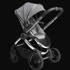 iCandy ICandy Peach Pushchair and Carrycot - Chrome Light Grey Check