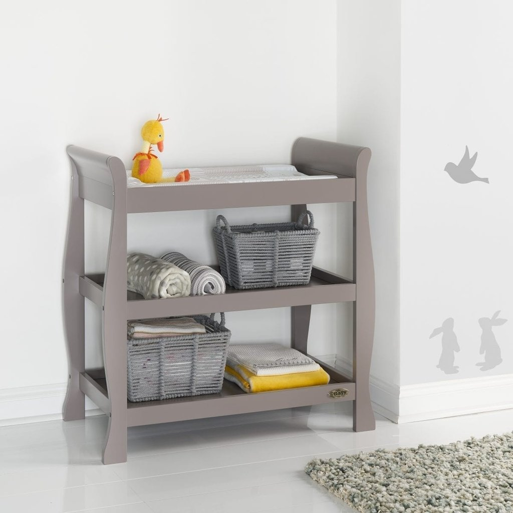 Obaby Obaby Stamford Sleigh Open Changing Unit - Taupe Grey