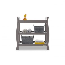 Obaby Stamford Space Saver Sleigh 2 Piece Room Set – Taupe Grey
