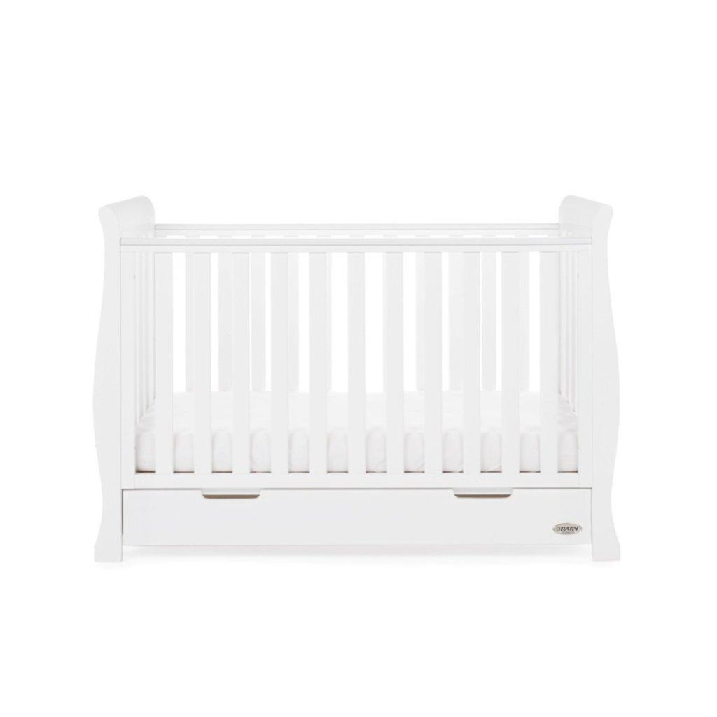 Obaby Obaby Stamford Mini Sleigh 3 Piece Room Set - White