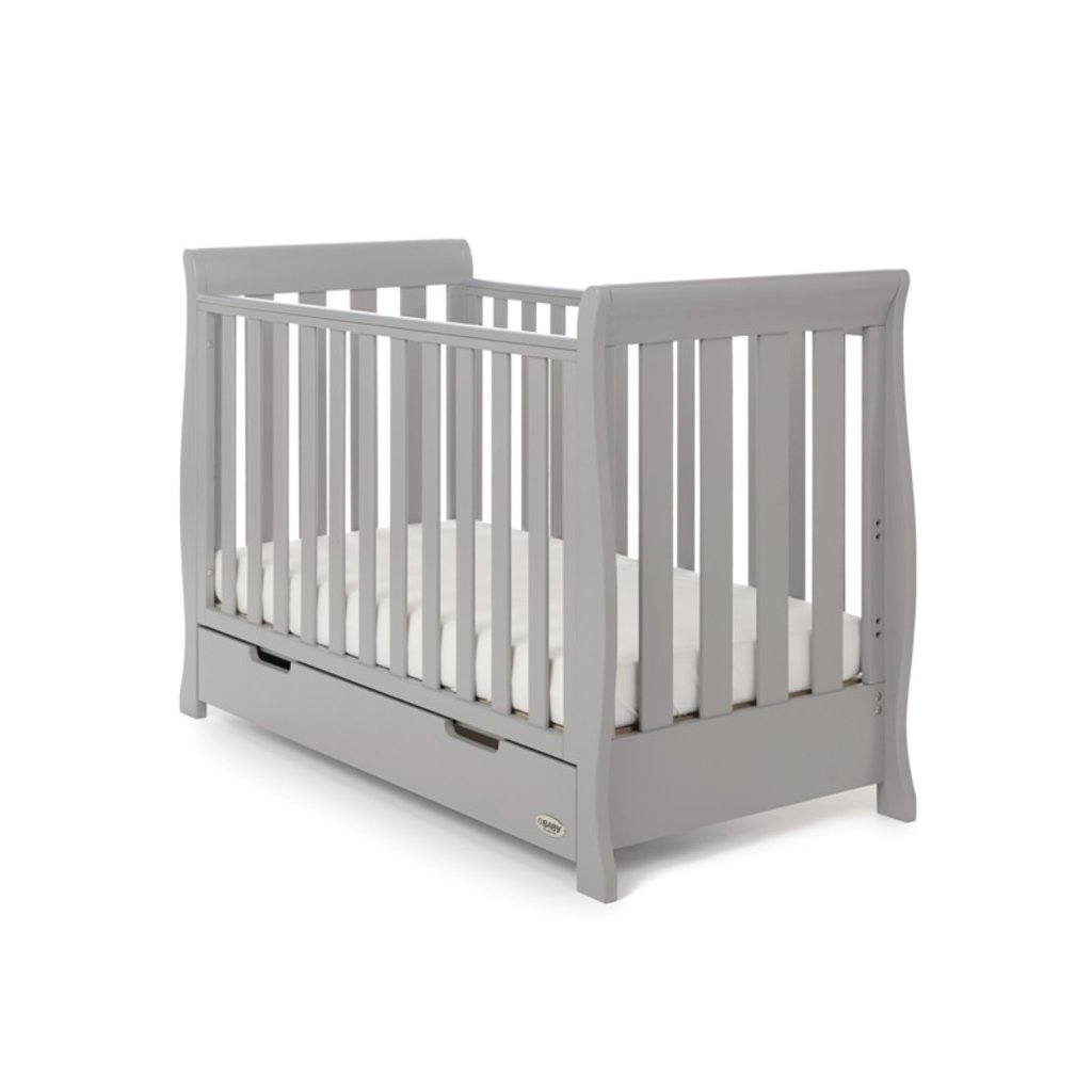 Obaby Stamford Mini Sleigh 3 Piece Room Set - Warm Grey