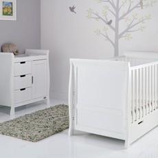 Obaby Obaby Stamford Classic Sleigh 2 Piece Room Set - White