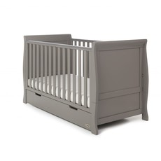 Obaby Obaby Stamford Classic Sleigh 2 Piece Room Set - Taupe Grey