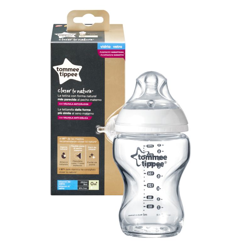 Tommee Tippee Tommee Tippee Closer To Nature Glass Bottle 250ml