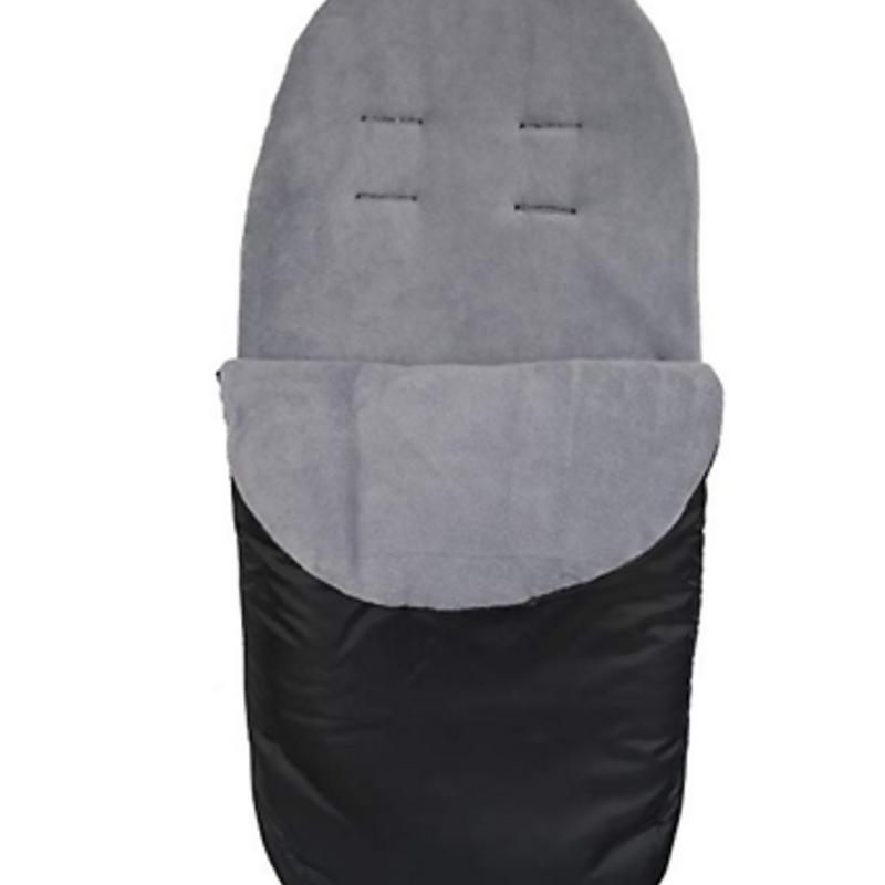 Br nursery Cuddles Fleece Footmuff Black /Grey