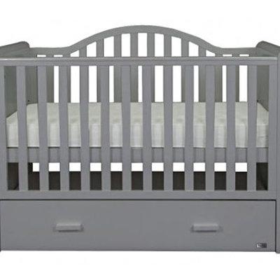 Br nursery Oslo Sleigh Cot Bed Grey