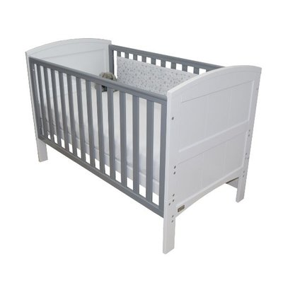 Brbaby Stockholm Cot Bed- White & Grey