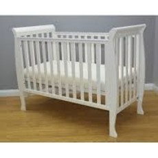 Brbaby Milan Sleigh Cot- White