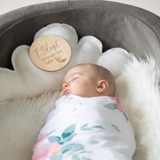 Bebe au Lait Baby's Firsts  Wooden  Sayings Disc 12pc