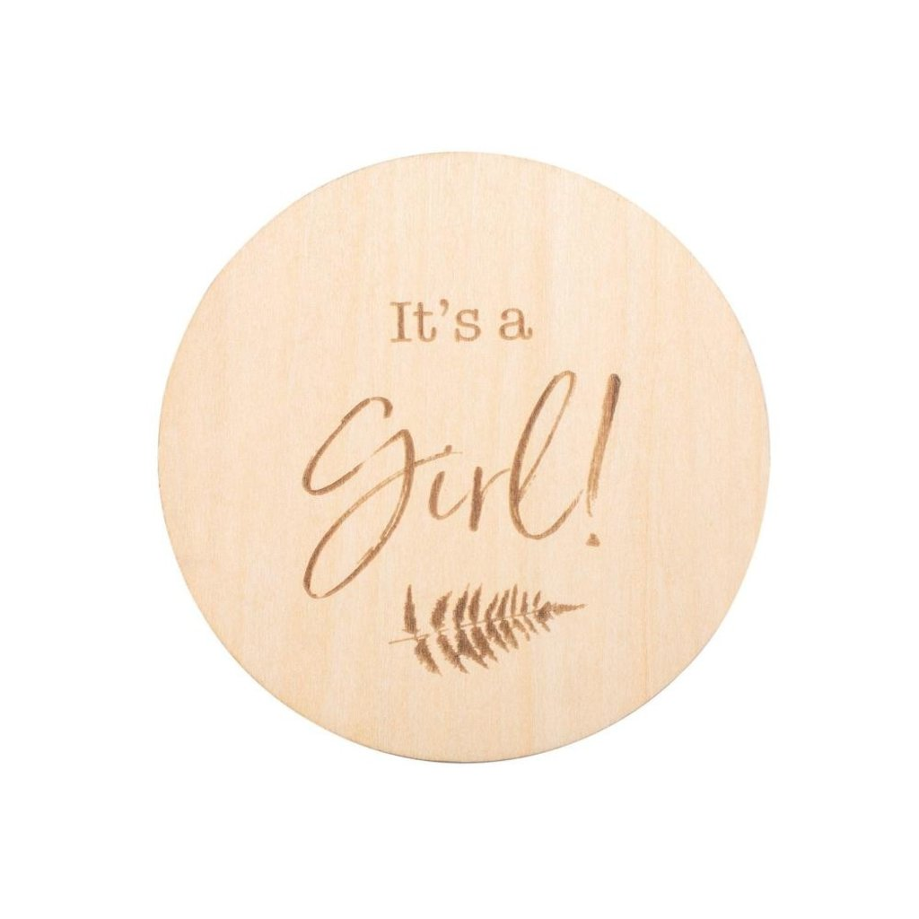Bebe au Lait It's a Girl Wooden Bebe Sayings Disc