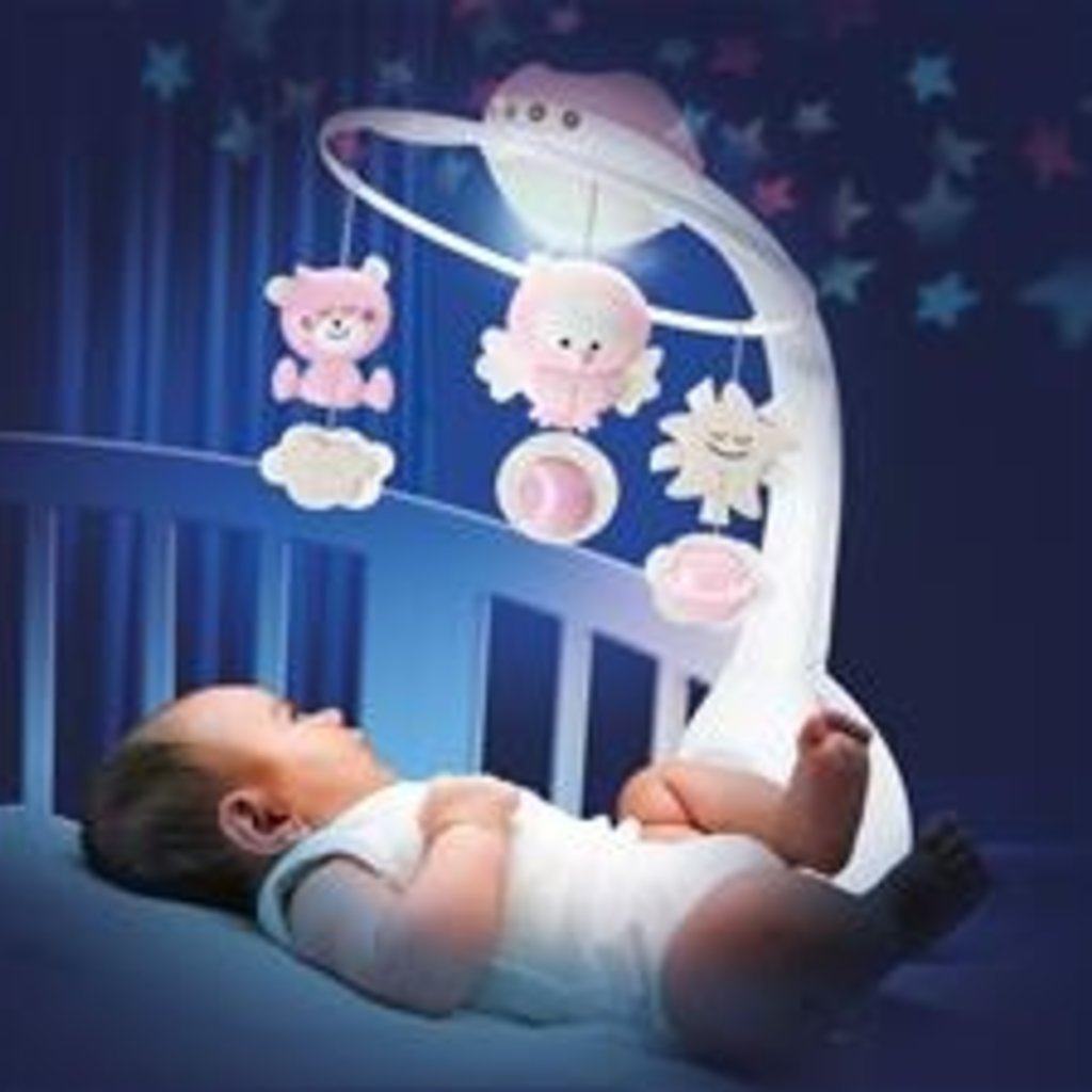 Infantino Infantino 3 in 1 Projector Musical Mobile Pink