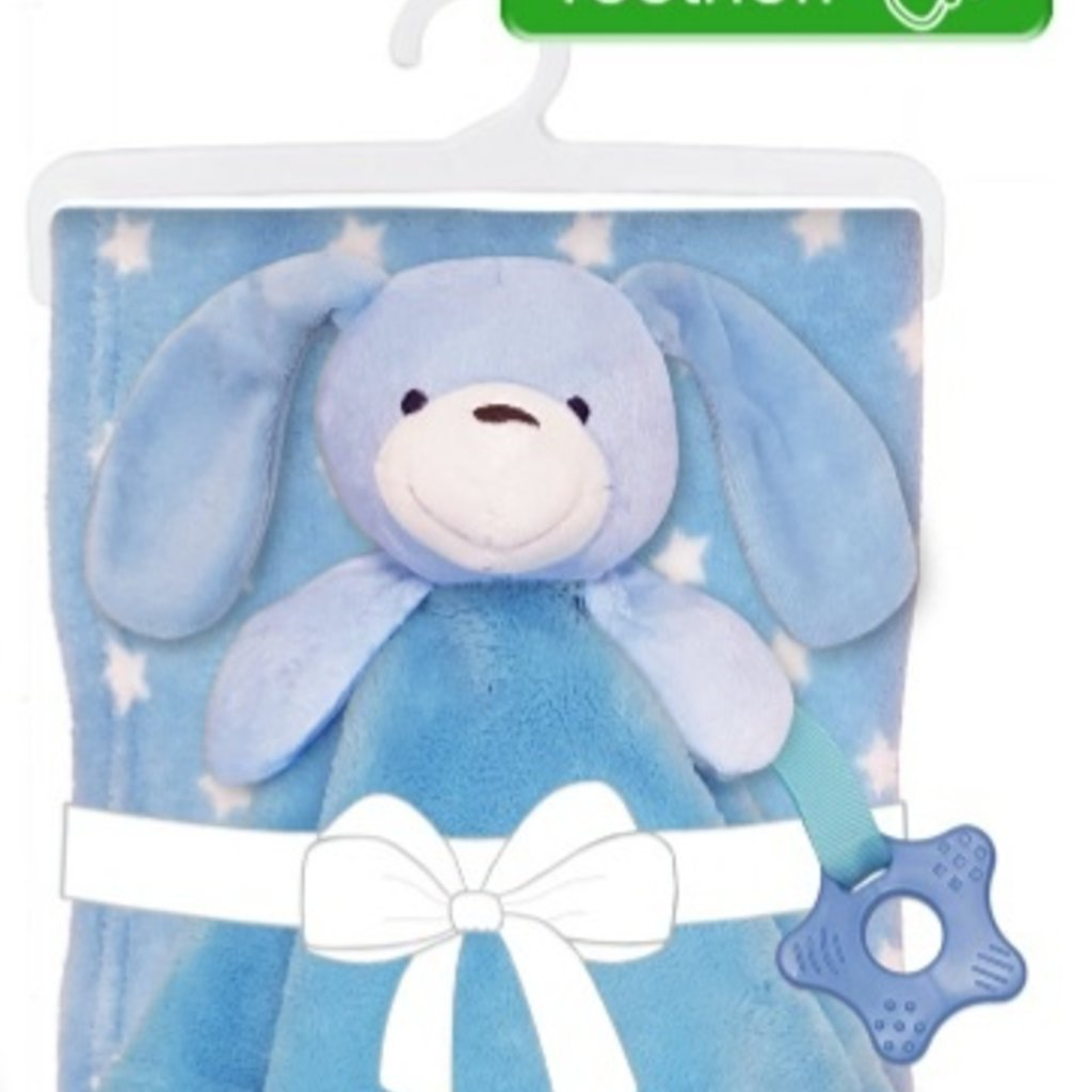 Baby.Baby Puppy Blanket, Comforter with Teething Ring