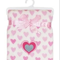 Baby.Baby Pink Heart Blanket